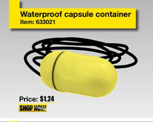 Waterproof capsule container