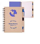 Recycled Die Cut Notebool:Globe