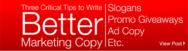 Three Critical Tips to Write Better Marketing Copy