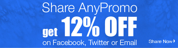 Share AnyPromo get 12% OFF
