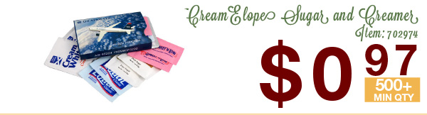 CreamElope Sugar and Creamer