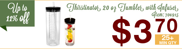 Thirstinator  20 Oz Tumbler with Infuser