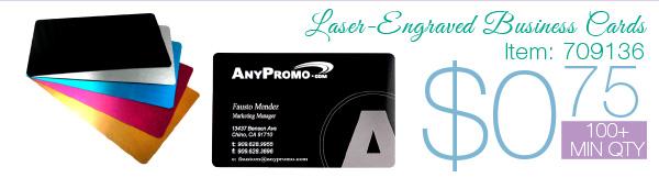 Laser-Engraved Business Cards