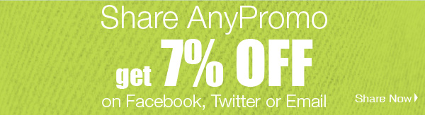 Share AnyPromo get 7% Off