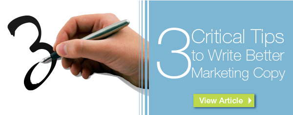 Critical Tips to Write Better Marketing Copy