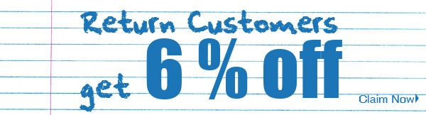 Repeat Customer get 6% Off