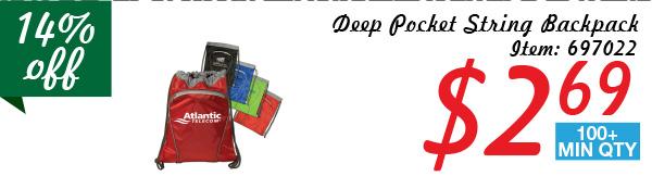 Deep Pocket String Backpack