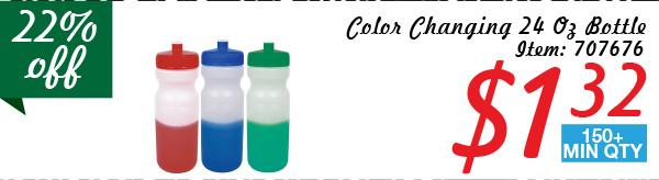 Color Changing 24 Oz Bottle