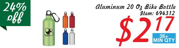 Aluminum 20 Oz Bike Bottle