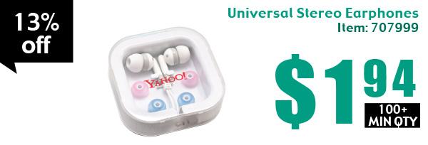 Universal Stereo Earphones