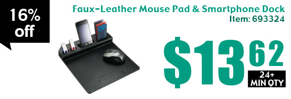 Faux-Leather Mouse Pad & Smartphone Dock