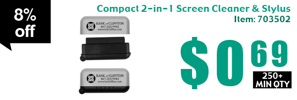 Compact 2-in-1 Screen Cleaner & Stylus
