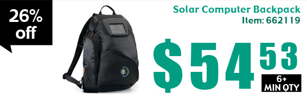 Solar Computer Backpack