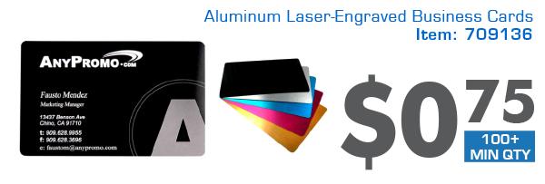 Aluminum Laser-Engraved Business Cards