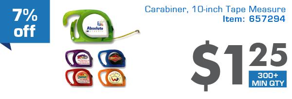 7%off Carabiner,10-inch Tape Measure