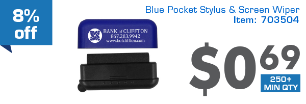 8%off Blue Pocket Style&Screen Wiper
