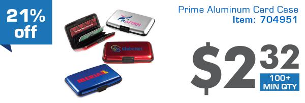 Prime Aluminum Card Case