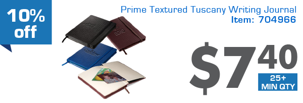 10% off Prime Textured Tuscany Writing Journal