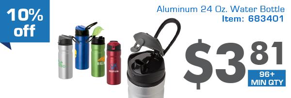 10% off Aluminum 24 Oz.Water Bottle