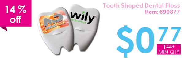 14% off Tooth Shaped Dental Floss