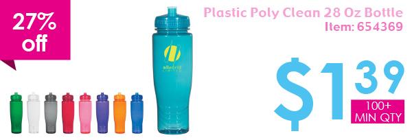 27% off Plastic Poly 28 Oz Bottle