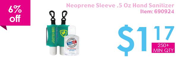 Neoprene Sleeve .5 Oz Hand Sanitizer