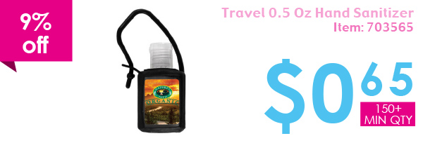 9% off Travel 0.5 Oz Hand Sanitizer