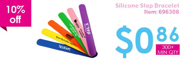 10% off Silicone Slap Bracelet