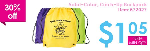 30% off Silid-Color, Cinch-Up Backpack