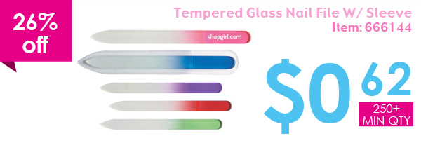 26% off Tempered Glass Nail File W/Sleeve
