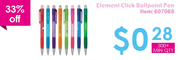 33% off Element Click Ballpoint Pen