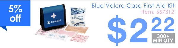 Blue Vecro Case First Aid Kit