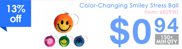 Color-Changing Smiley Stress Ball