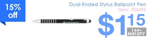 Dual-Ended Stylus Ballpoint Pen