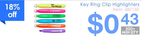 Key Ring Clip Highlighters