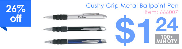 Cushy Grip Metal Ballpoint Pen