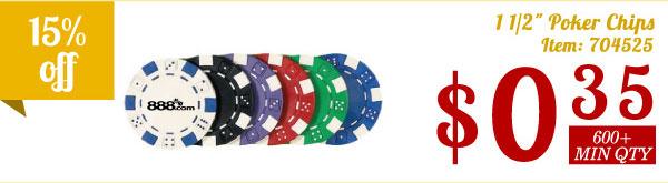 """11/2"""" Poker Chips"""