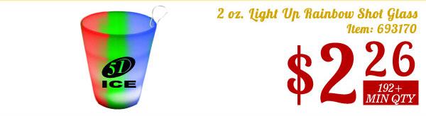 2 oz. Light Up Rainbow Shot Glass