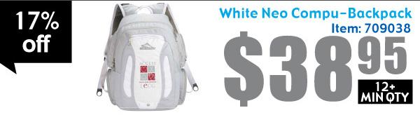 White Neo Compu-Backpack