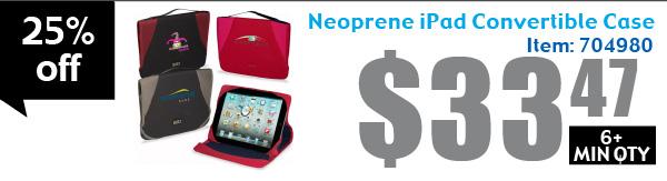 Neoprene iPad Convertible Case